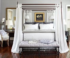 Every master bedroom should reflect the tastes, lifestyles, and travels of those who occupy the space: http://www.bhg.com/rooms/bedroom/master-bedroom/master-bedroom-ideas/?socsrc=bhgpin033015createcollectedappeal&page=4