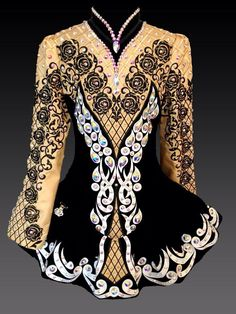 Kerry Design Irish Dance Solo Dress Costume ~ Platinum Line ~