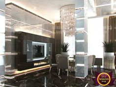 Admirable Living Room Design in Dubai by Luxury Antonovich Design Bed In Living Room, Living Room Designs, Contemporary Living Room, Villa Design, Gorgeous Flooring, Floor Design, Contemporary Living, Beautiful Living Rooms, Luxury Interior Design