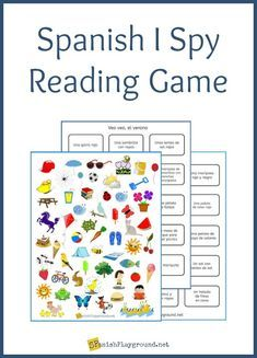 Spanish I Spy Reading Game for Language Learners - Spanish Playground
