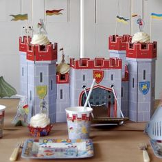Cupcake Stand - Brave Knights  http://www.littlecupcakeboxes.co.uk/cupcakeboxes/Cupcake-Stand-knights-castle-1658.html  #cake-stand