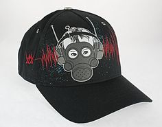 $5.00 Metalidz Fashion Hat Black With Red Lines At Liquidationprice.com