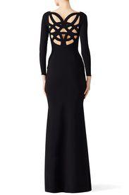 Black Cage Back Gown by La Petite Robe di Chiara Boni