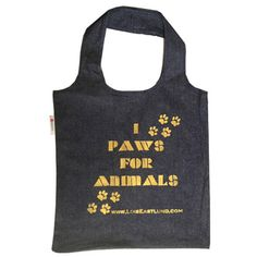 Paws For Animals Vegan Tote by LoisEastlund on Opensky