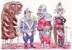 Sci-Fi Convention by Geo Parkin