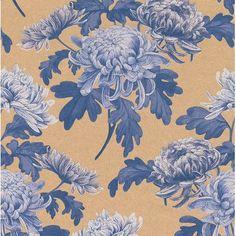 "Walls Republic Vintage Blossoms 32.97"" x 20.8"" Floral and botanical Wallpaper Color: Royal Blue"