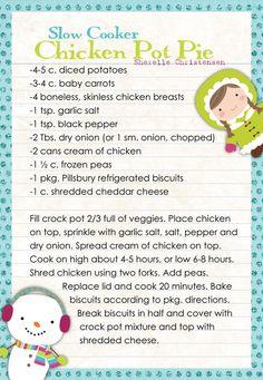 slow cooker chicken pot pie food recipe recipes ingredients instructions dinner dinner recipes chicken recipes