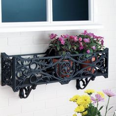 Garden Planter Flower Plant Outdoor Pot Window Box Containers Decor Balcony