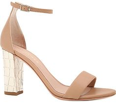 Kurt Geiger Isabella mock-croc leather sandals sur shopstyle.fr