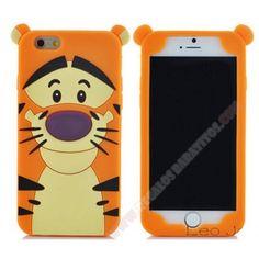 Carcasa 3D Divertida silicona diseño tigre para iphone 6/6S