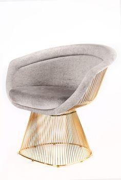LC 2101GRY Lulu Platner Lounge Chair