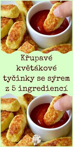 Czech Recipes, Cauliflower Recipes, Party Snacks, Dumplings, Food And Drink, Health Fitness, Appetizers, Low Carb, Vegetarian