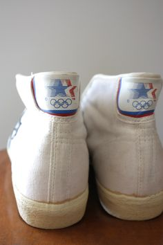 Vintage 80s Converse Olympic All Star Dr J Canvas Basketball Sneakers Size 14M. £80.00, via Etsy.