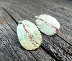 Enamelled copper Enamel, Coconut, Copper, Earrings, Jewelry, Ear Jewelry, Silver, Isomalt, Jewellery Making