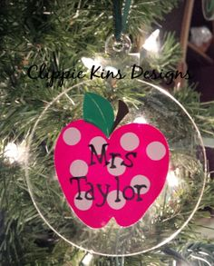 Teacher gift personalized ornament