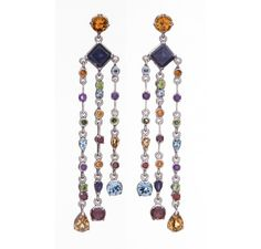 SKU-RPSE03135 - Stunning sterling silver earring made with semi precious stones