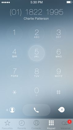 iOS7 Keypad Redesign / Charles Patterson