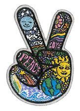 Iconic Dan Morris Peace Sign Patch