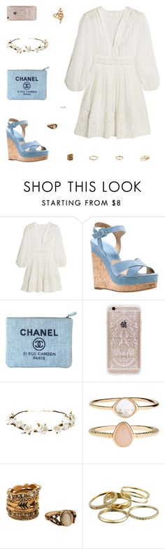 """""""Laurelie"""" by belenloperfido ❤ liked on Polyvore featuring Zimmermann, Michael Kors, Chanel, Rifle Paper Co, Cult Gaia, Accessorize, Kendra Scott and Allurez"""