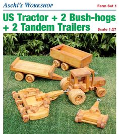 Wooden Farm Tractor Plans