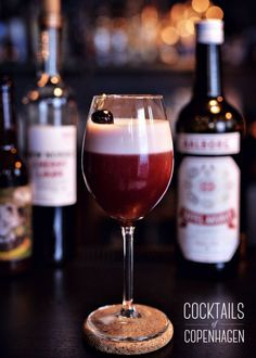 Cherry fizz from Duck and Cover, Copenhagen, Photo by Alexander Banck Petersen