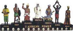 The seven African powers Obatala, Elegua, Yemaya, Oshun, Chango, Ogun, Orula