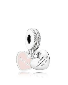 7ed9cbfe6 Pandora Moments Collection Sterling Silver, Cubic Zirconia & Enamel Travel  Together Forever Dangle Charm Jewelry & Accessories - Bloomingdale's