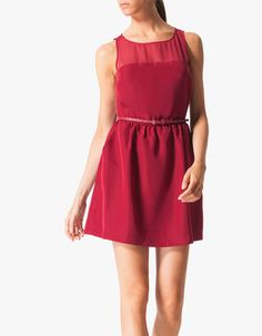 Combined dress with belt from Stradivarius.