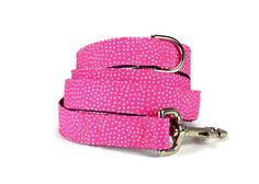 Pink Polka Dot Dog Leash