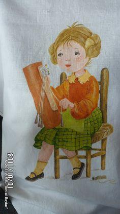 ENCAJERAS DE BOLILLOS DE BENALMÁDENA: ENCAJERA DE BOLILLOS vista en el Encuentro de Hinojosa del Valle - 2011 Sewing, Pattern, Painting, Fictional Characters, Image, World, Bobbin Lace Patterns, Crocheting, Hand Fans