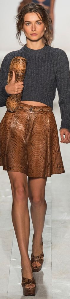 Brown crocodile print fabric for Michael Kors purse and skirt.