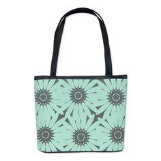 Cute Mint Floral Bucket Bag #mint