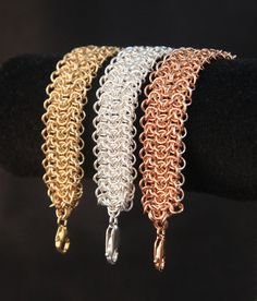 Elf Sheet Chainmaille Bracelet for Fitbit Flex van Ciarba op Etsy