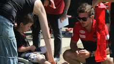 Great to meet Liam during our 2015 Community Camp in Gisborne. Here he is having a quick chat to Dalgleish. #DonTheSash