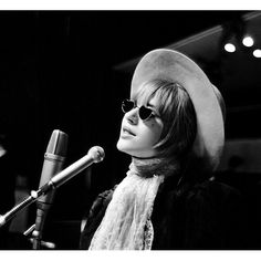 Marianne performing in Essen, Germany - March 1967. Photo by Peter Seeger. #mariannefaithfull #peterseeger