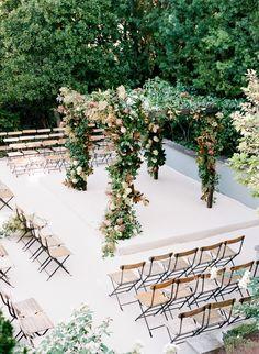 Floral wedding arch: http://www.stylemepretty.com/2017/05/17/garden-inspired-city-hall-wedding-in-san-francisco/ Photography: Jose Villa - http://josevilla.com/