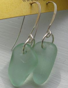 Dangly Pale Sea Foam Lake Superior Beach Glass by beachglass46