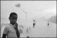 Rene Burri - Copacabana beach. Rio de Janeiro, Brazil, 1958