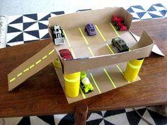 box diy, parking garage.
