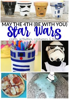 """Star Wars fan? You'll love these Star Wars crafts & activities to celebrate May the 4th (be with you) Do you celebrate May the 4th with your Star Wars loving kids? I've seen activities pop up all around town as each year this """"holiday"""" gains more and more momentum! My son is a huge Star …"""