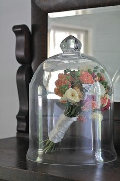 Keeping your bouquet after wedding.....this reminds me of beauty and the beast(: