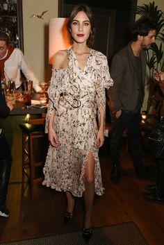 Alexa Chung wearing Preen by Thornton Bregazzi in London