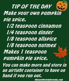 Make your own pumpkin pie spice.