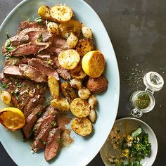 With a cooling coat of lemon, dill, and caraway, the classic steak and potatoes gets a delicious modern makeover: http://www.bhg.com/recipes/from-better-homes-and-gardens/october-2014-recipes/?socsrc=bhgpin092814scandinaviansteakandpotatoes&page=11