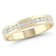 14k White or Yellow Gold Round Diamond Anniversary Band (1/4 cttw, H-I Color, I1-I2 Clarity), diamond engagement rings REVIEW