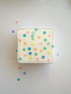 this seems perfect. ice cream? cheese? i dunno. but i love the confetti dots.
