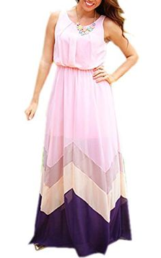 Finejo Summer Casual Loose Chiffon High Waist Splice Beach Maxi Dress Finejo http://www.amazon.com/dp/B0107YPYEU/ref=cm_sw_r_pi_dp_ohtRvb0V765DY
