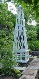 Garden Obelisks and Planter Boxes by BrattleWorks