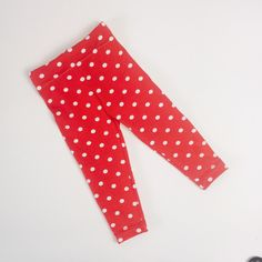 Adorable leggings for the little girl.    Red with white dots. Perfect for the summer. Made of very soft cotton Jersey.    Size newborn - 18 m   Shop this product here: http://spreesy.com/Miniki-baby-fashion/124   Shop all of our products at http://spreesy.com/Miniki-baby-fashion      Pinterest selling powered by Spreesy.com