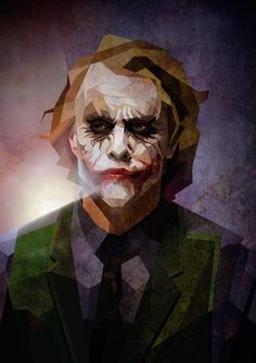 The Joker / Cubismo by Luis Huertas, via Behance